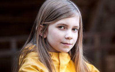Lina mit Hauptrolle im Kurzfilm